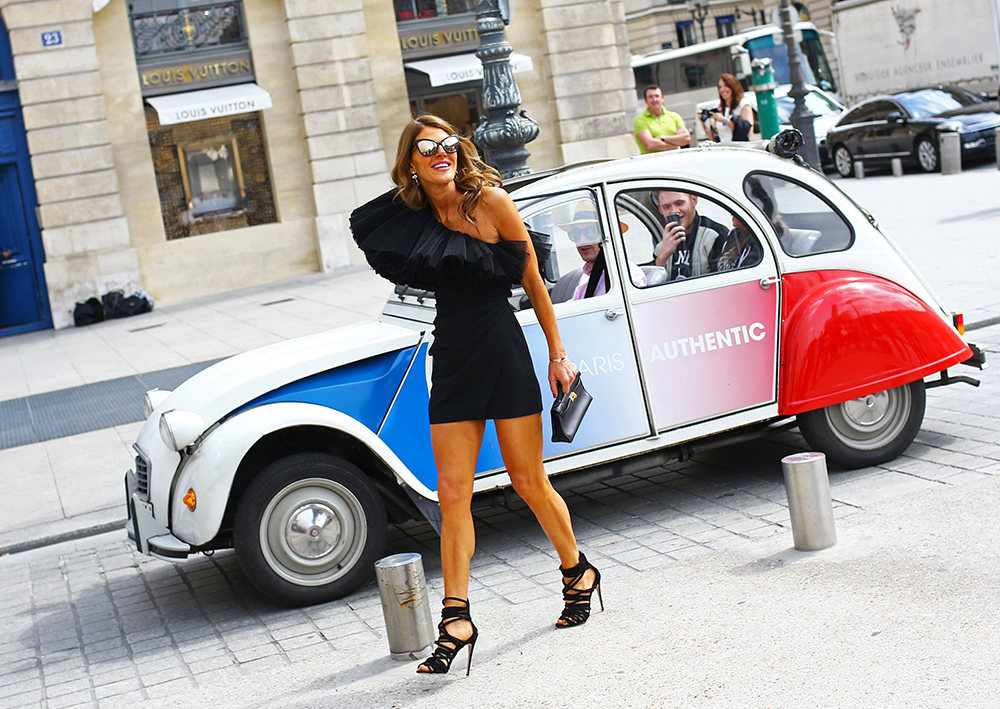 Anna Dello Russo Saint Laurent Paris Couture Street Style
