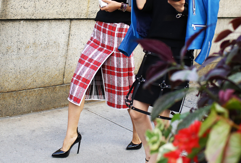 Celine Chinatown Plaid Skirt