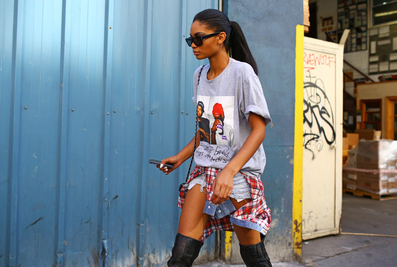 Chanel Iman Denim Shorts