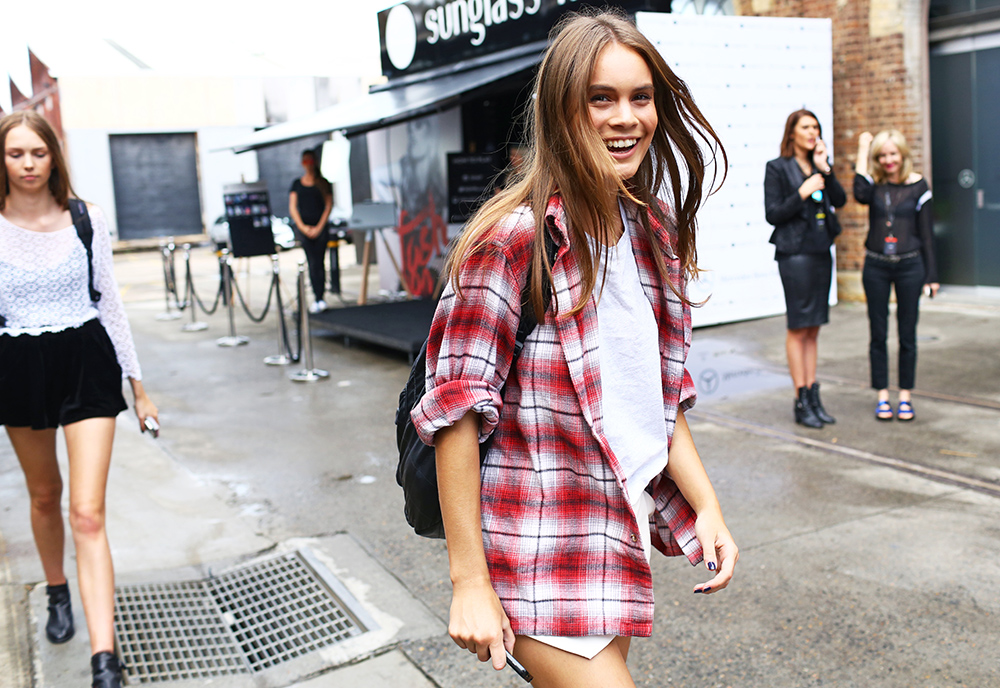 Flannel Plaid Street Style