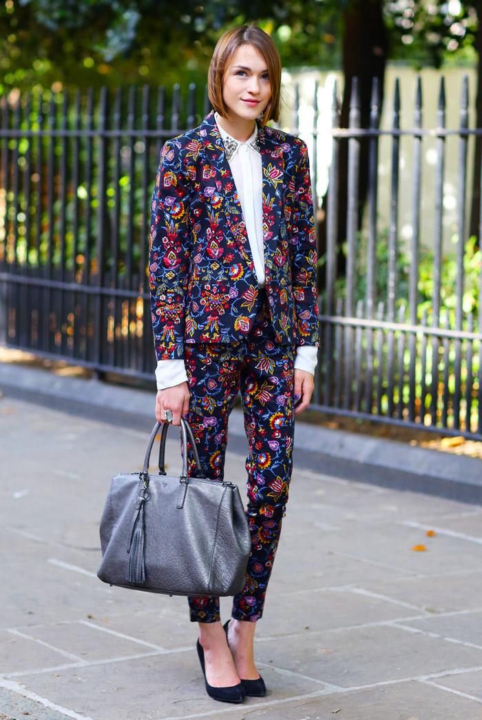 Floral Suit London Street Fashion Street Peeper Global Street Fashion And Street Style