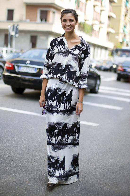 Eva Geraldine, Horse Print Dress