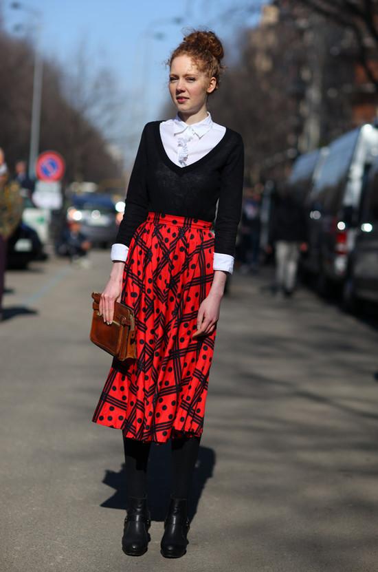 Dice Print Skirt