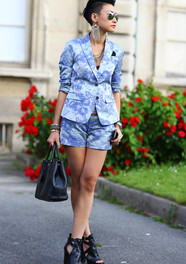 Esther Quek in Blue Fashion