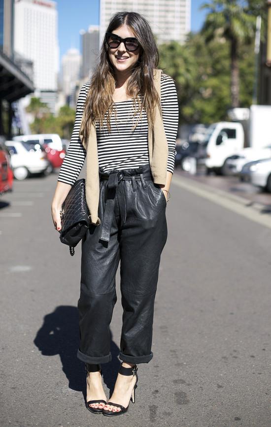 Sydney Leather Pants