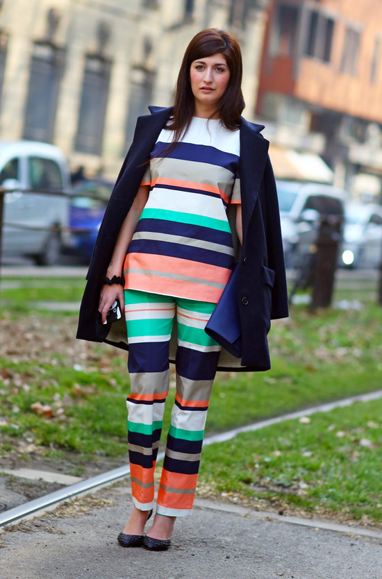Valentina Siragusa, Stripes in Milan