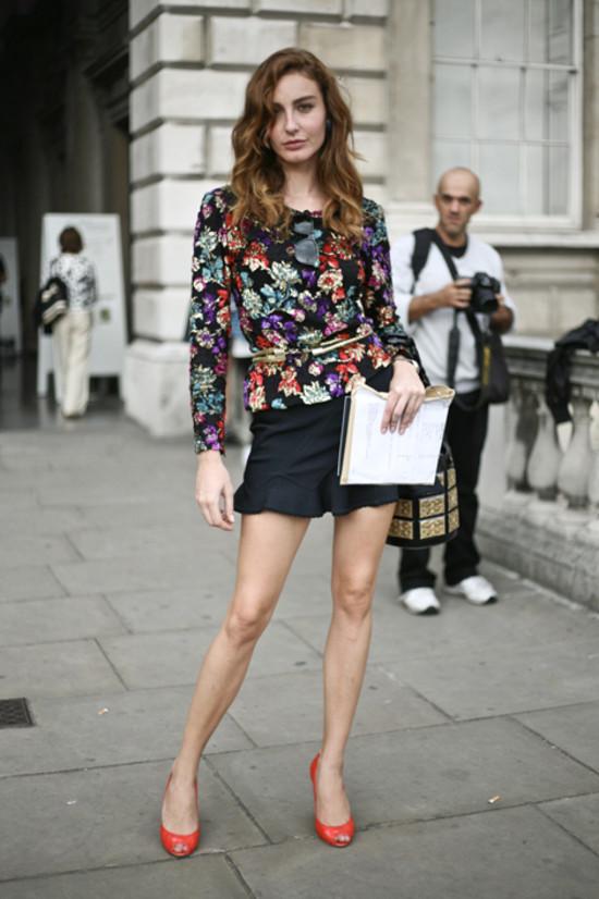 Ece Sukan, Vogue Turkey, Sequined Floral Top