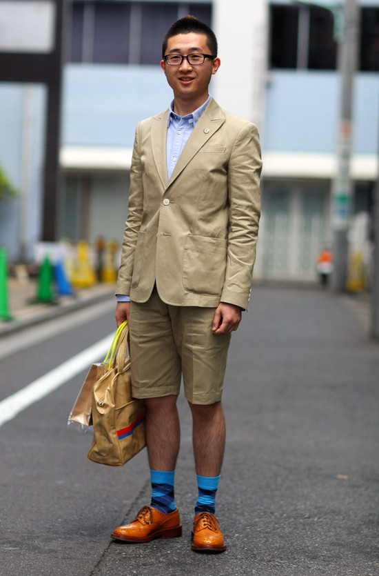 Beige Suit + Shorts
