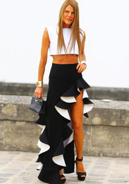Anna Drllo Russo in Balenciaga Ruffles Fashion