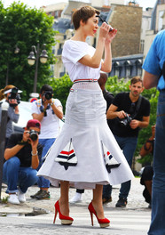 Ulyana Sergeenko in Thom Browne Fashion