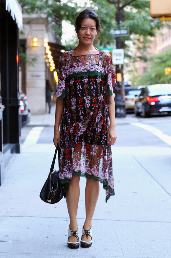 Junya Watanabe Floral Lace Dress Street Fashion Street