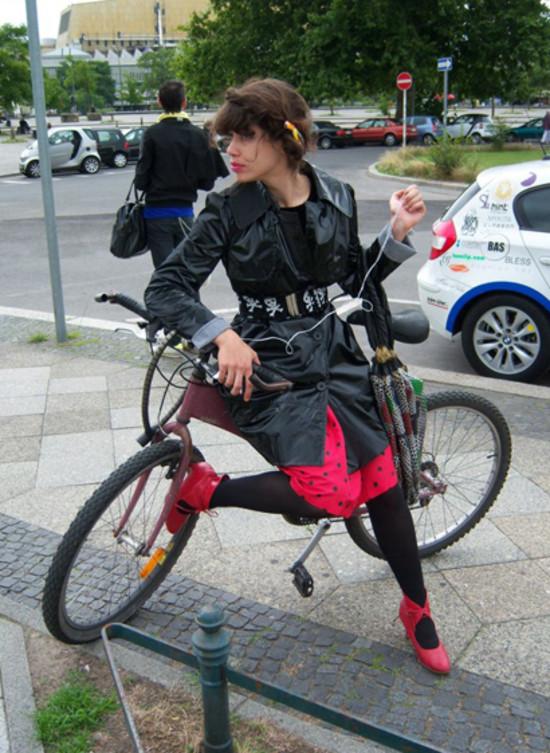 Just Chillin On Her Bike, Berlin