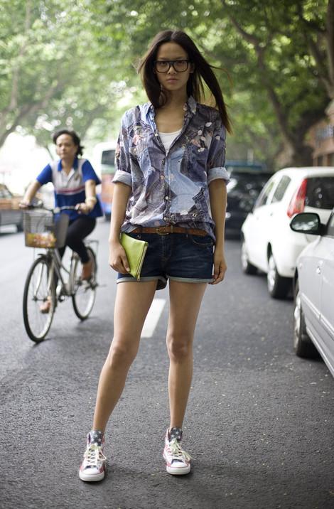 Grace Gao, Denim Print Shirt