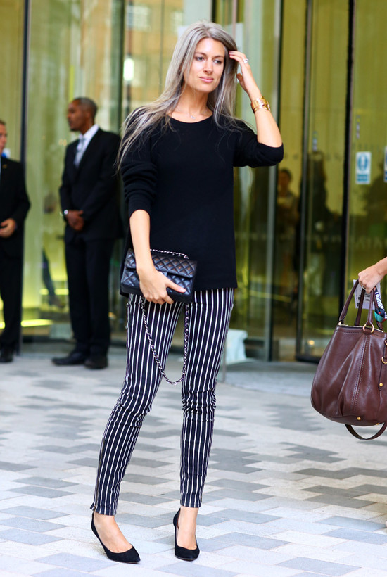 Sarah Harris, British Vogue, Stripey Pants