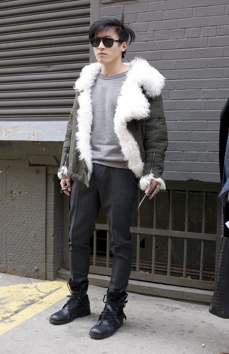 Shearling Jacket, Menswear, NYC