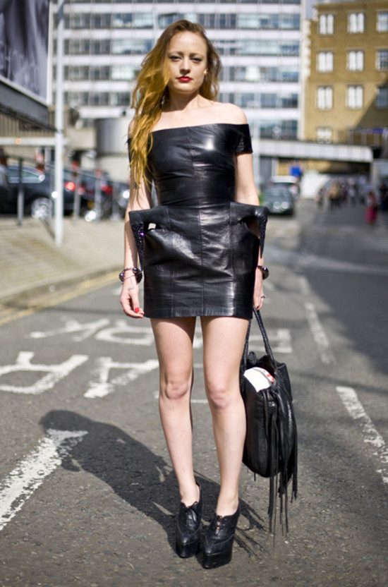 Black Leather Dress, London