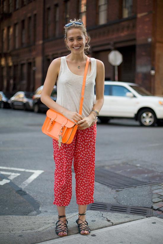 Laurel Pantin, Neon Orange Cambridge Satchel