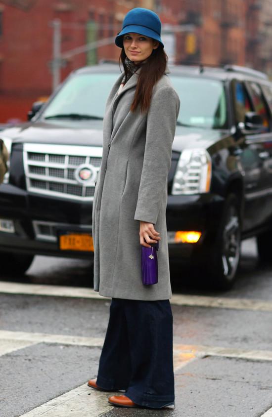 Grey Coat, Blue Hat