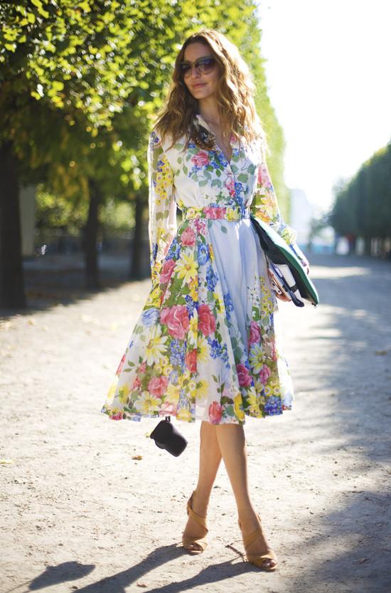Ece Sukan, Floral Dress
