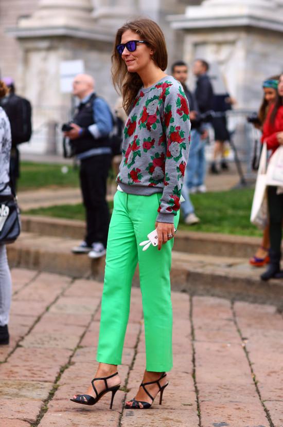Aurora Sansone, Floral Sweater
