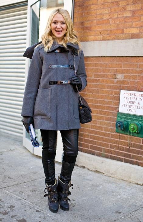 Zanna Roberts in Burberry, NYC