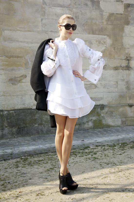 Elena Perminova, White Shirt