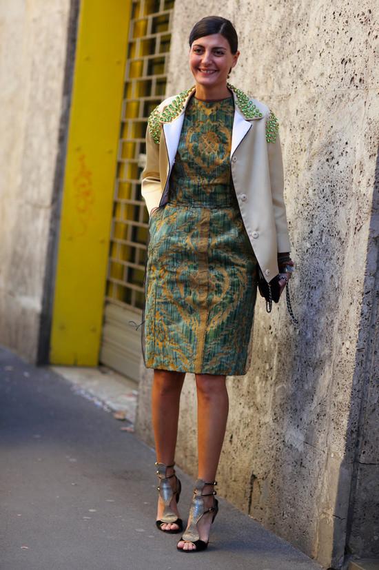 Giovanna Battaglia in Prada Coat