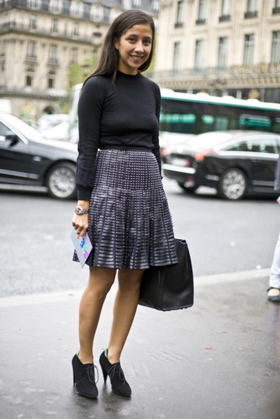 Studded Skirt, Paris