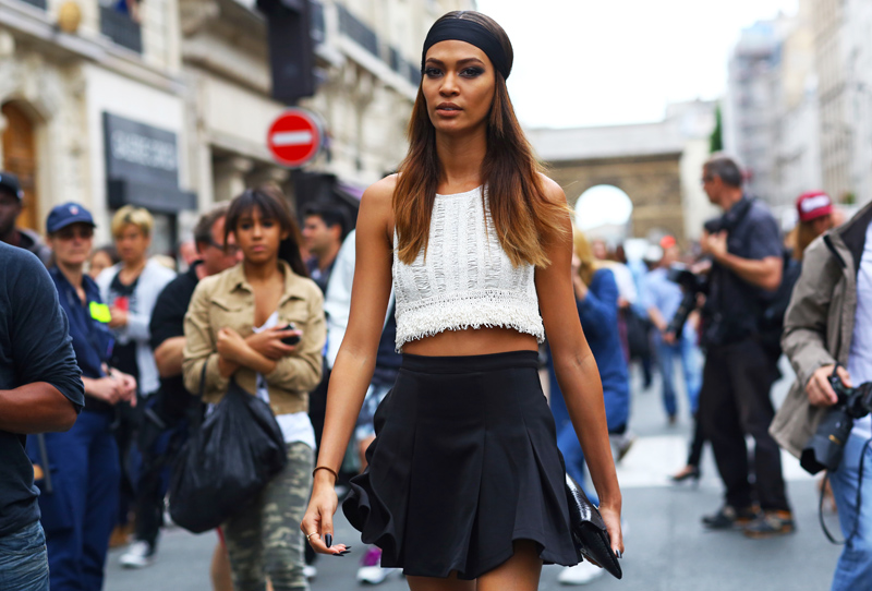 Joan Smalls Alexander Wang Crop Top