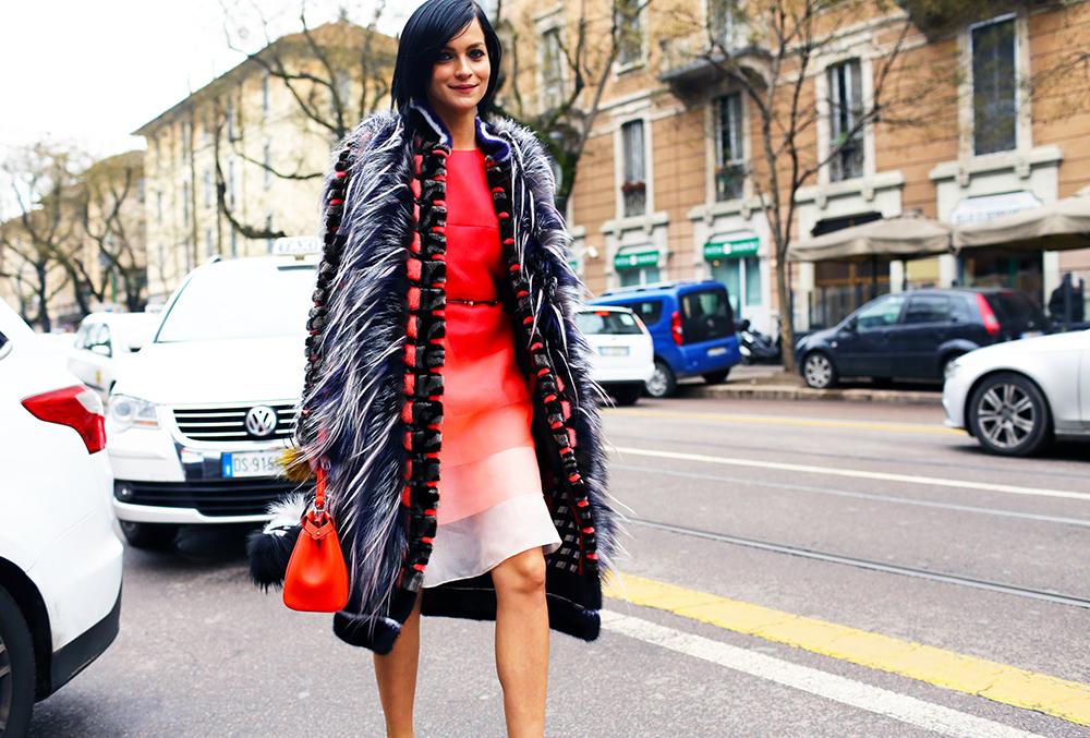 Leigh Lezark Fendi Fur Street Style