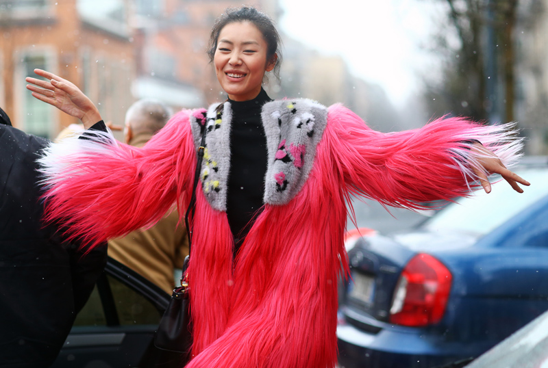 Liu Wen Fendi Fur