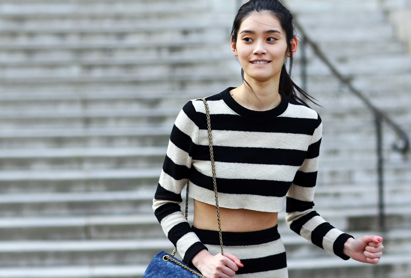 Ming Xi Model Stripes
