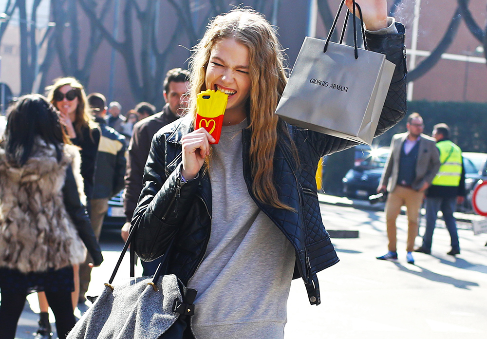 Moschino McDonalds French Fry iPhone Case