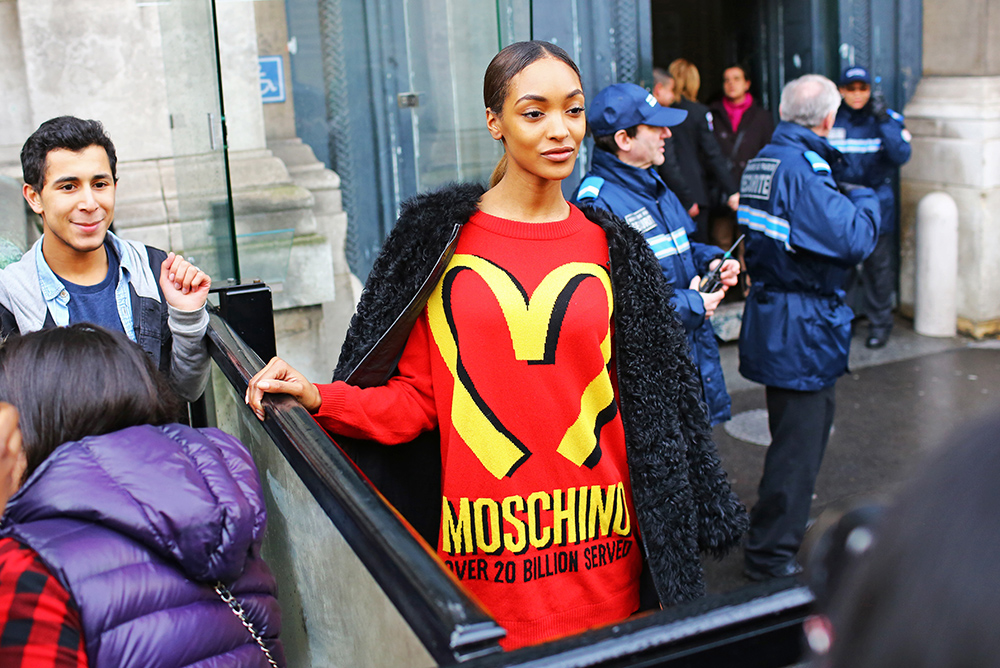 Moschino McDonalds Sweater Jourdan Dunn