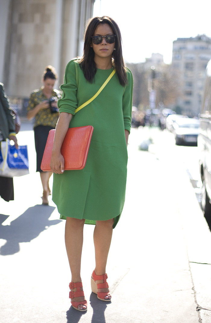 Green Phillip Lim Dress Street Fashion Street Peeper Global Street Fashion And Street Style