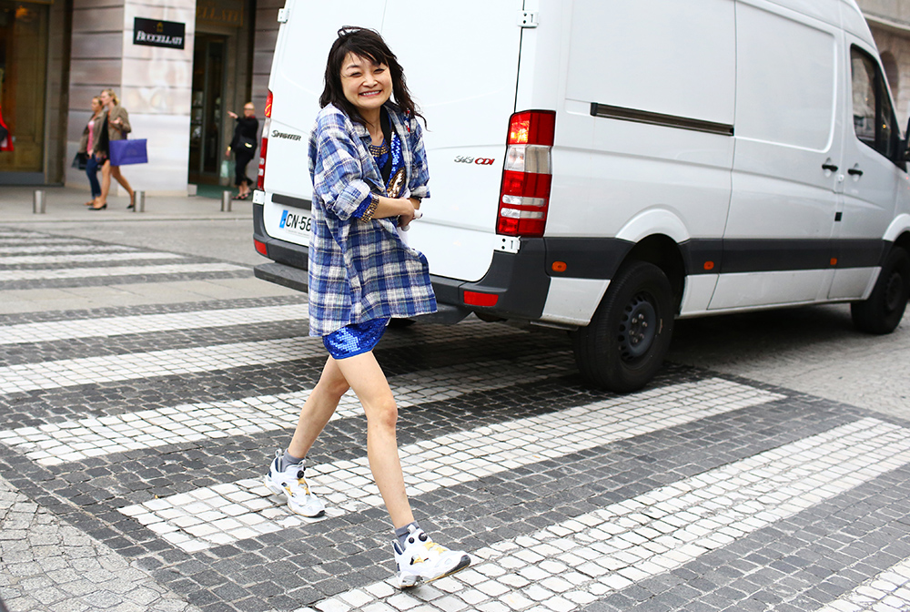 Rei Shito Flannel Street Style