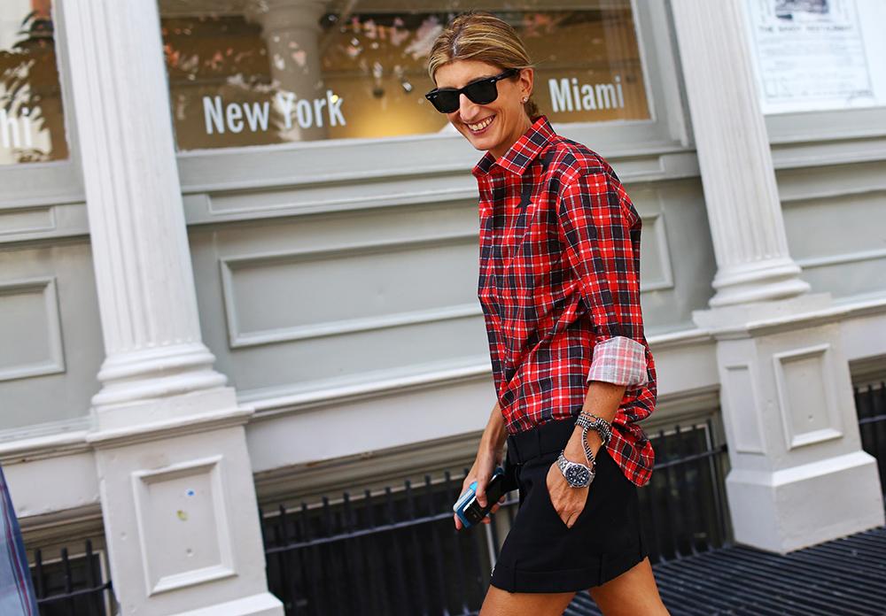 Sarah Rutson Givenchy Plaid Street Style