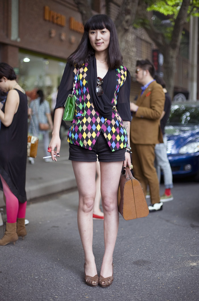 Diamond Vest Shanghai Street Fashion Street Peeper Global Street Fashion And Street Style