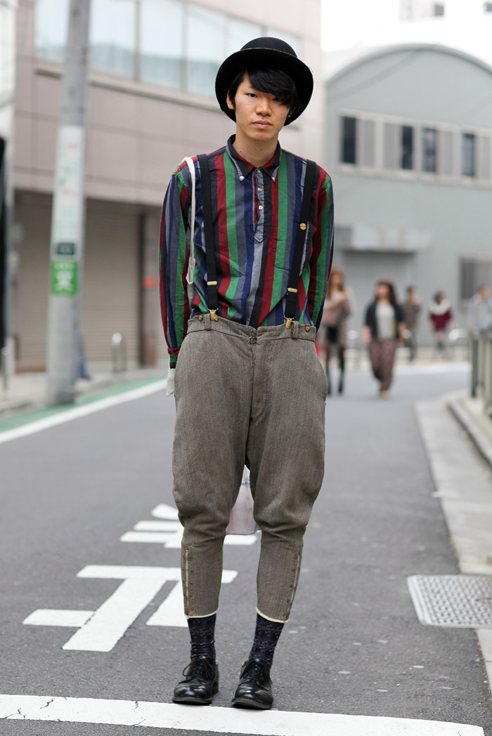 Stripes And Suspenders Street Fashion Street Peeper Global Street Fashion And Street Style