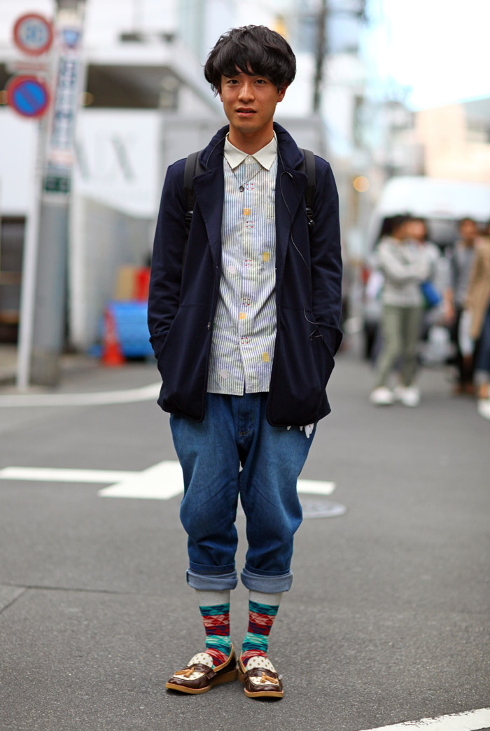 Tokyo Baggy Jeans Street Fashion Street Peeper